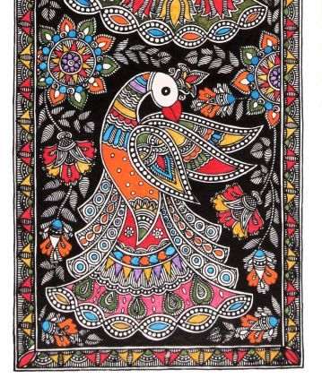 Mor Madhubani Wall Art – Buy Online | Wall Art | Limited Editions