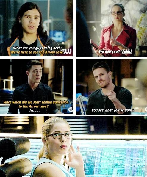 """When did we start selling admission to the Arrow cave?"" 3.8 The Flash vs Arrow"