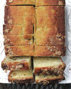 Ashley English's Rhubarb Buttermilk Bread from HANDMADE GATHERINGS