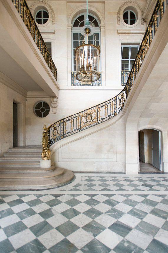 Versailles France photographie escalier dans Le Petit Trianon