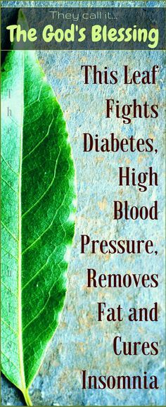 This AMAZING Leaf Fights Diabetes, High Blood Pressure, Removes Fat and Cures Insomnia