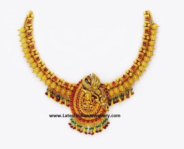 Peacock Lakshmi Fusion Necklace