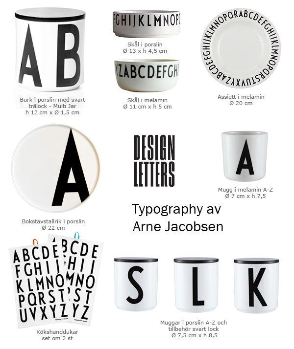 porcelain or melamine with arne jacobsen 39 s design letters. Black Bedroom Furniture Sets. Home Design Ideas