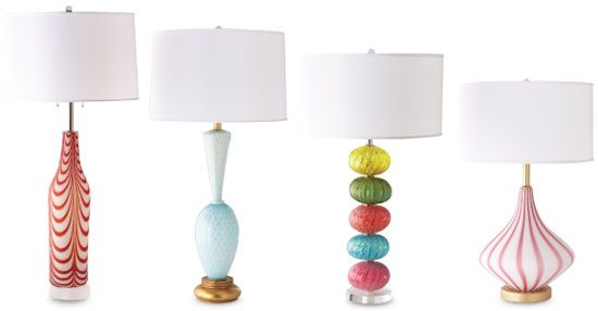 Swank Lighting vintage Murano glass lamps (too bad they are a couple grand!)