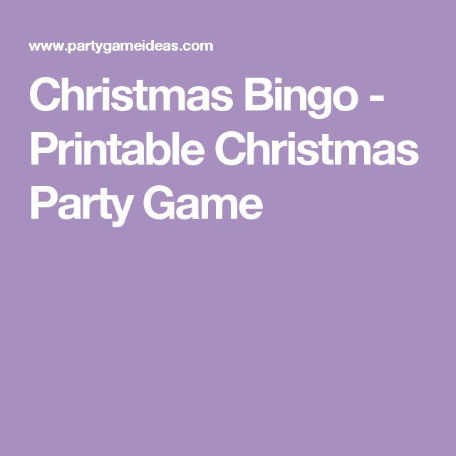 Christmas Bingo - Printable Christmas Party Game
