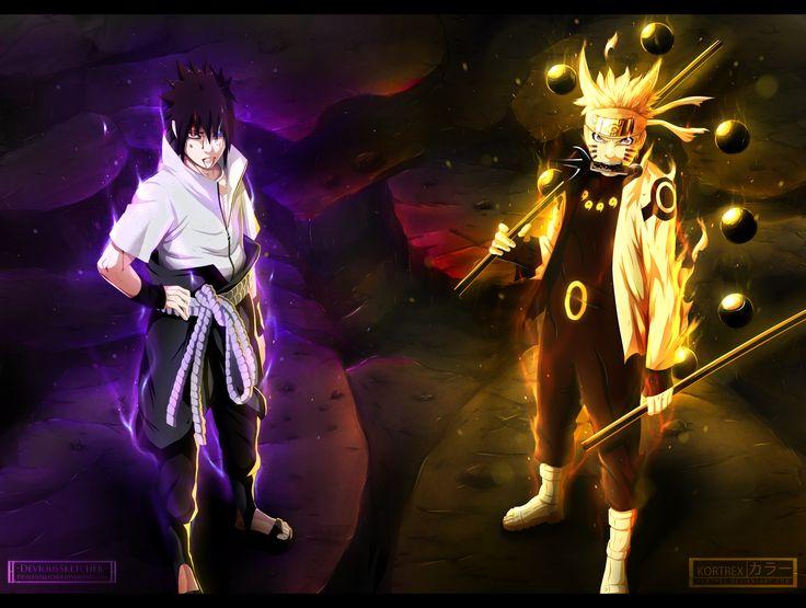 Anime Naruto  Sasuke Uchiha Naruto Uzumaki Anime Fondo de Pantalla