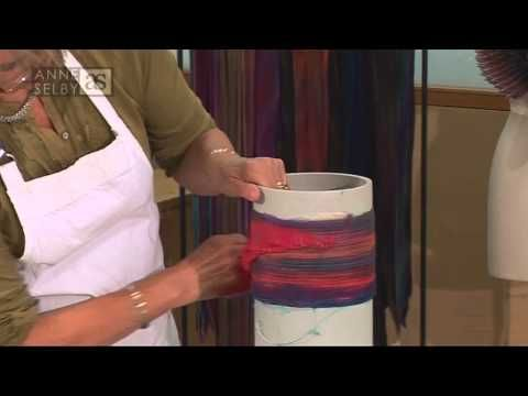 Arashi Shibori pleating video by Anne Selby. you can see how pleating and dying silk is done , interesting technique with gorgeous result