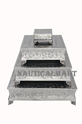 """Cake Stand Square Set of 22"""", 18"""", 14"""" & 6"""" Silver By Nau... https://www.amazon.co.uk/dp/B01IOUD1DA/ref=cm_sw_r_pi_dp_x_fSb8zbXD3D9MZ"""