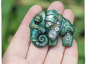 Лепим слона из полимерной глины в стилистике биомеханики | Ярмарка Мастеров - ручная работа, handmade