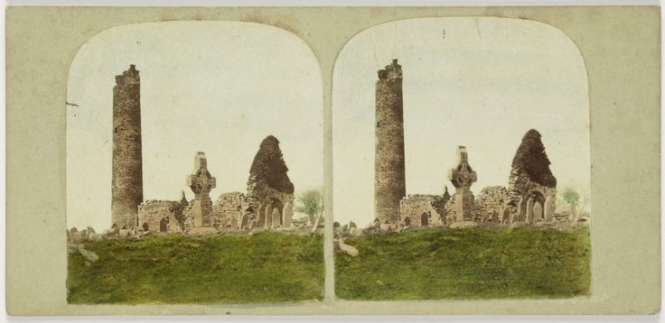 General view of the Antiquities of Monasterboice, County Louth. Ireland, Anonymous, 1850 - 1880
