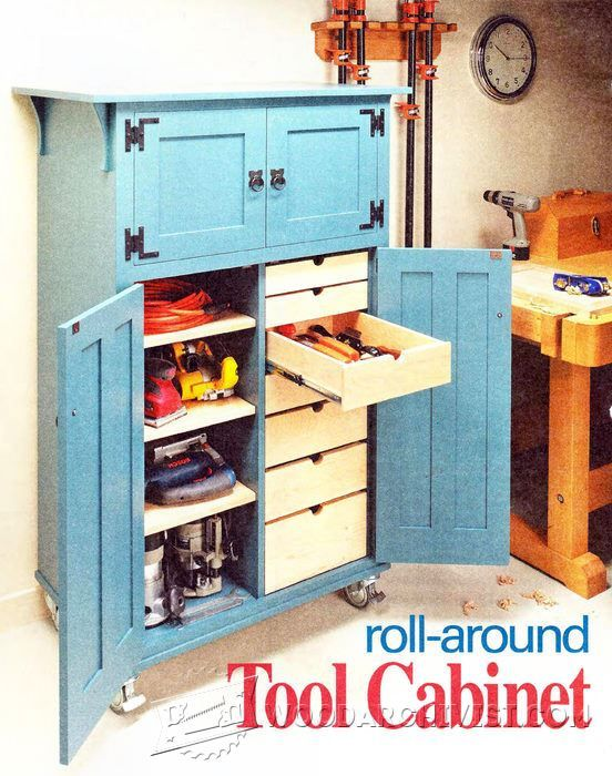 Roll-Around Tool Cabinet Plans - Workshop Solutions Plans, Tips and Tricks…