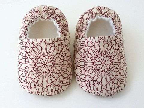 Baby Shoes - Red Lace