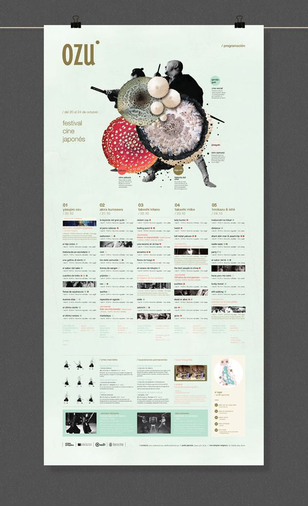 OZU - Japanese Film Festival by Ani Cordani, via Behance