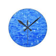 Sun sparkle round clock