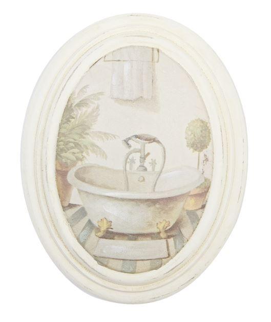 Cuadro ovalado para  cuarto de baño  Medidas: 17 * 22 cm