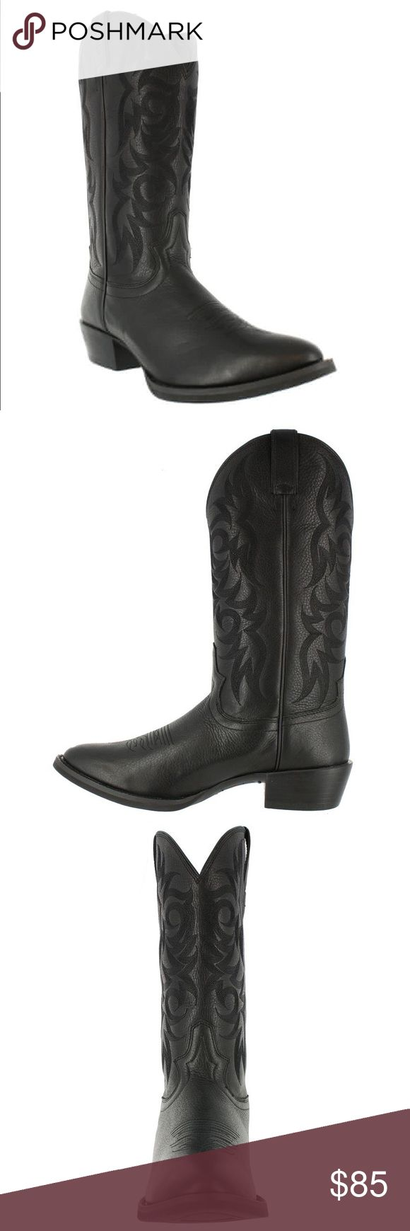 Mens leather Justin boots Justin gypsy men's leather boots size 11. Only worn two-three times. In new condition, no flaws, no scratches or scuffs on leather, beautiful all black boots. Justin Boots Shoes Boots