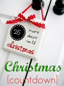 DIY Christmas Countdown craft tutorial! Great for small spaces!