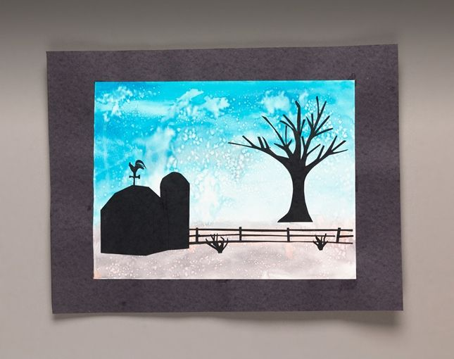 Salty Snow Silhouette lesson plan- crayola: Snow Silhouette, Silhouette Lesson, Art Lessons, Salty Snow, Sprinkle, Landscape, Salts, Lesson Plans, Art Projects