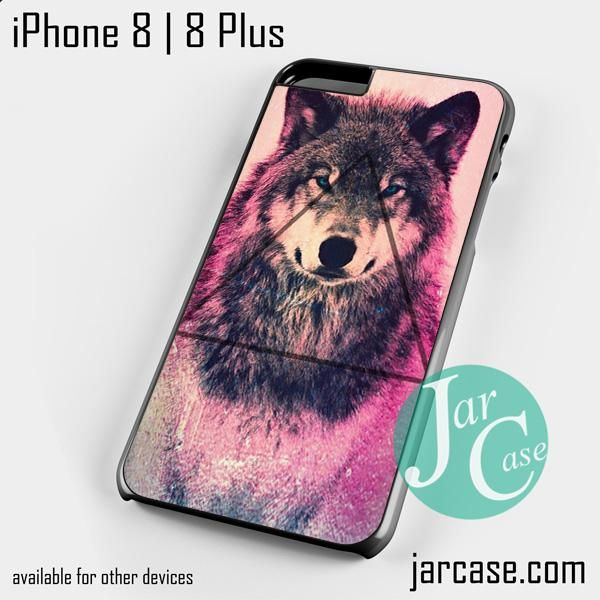 Pink Wolf Triangle Phone case for iPhone 8 | 8 Plus