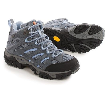 Merrell Moab Mid Hiking Boots - Waterproof (For Women) in Grey/Periwinkle