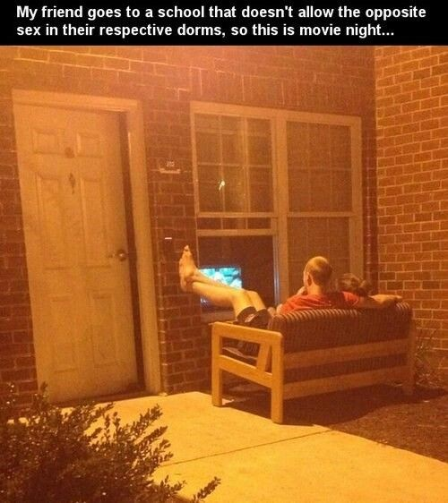 Funny Pictures About Movie Night In College Oh And Cool Pics Also