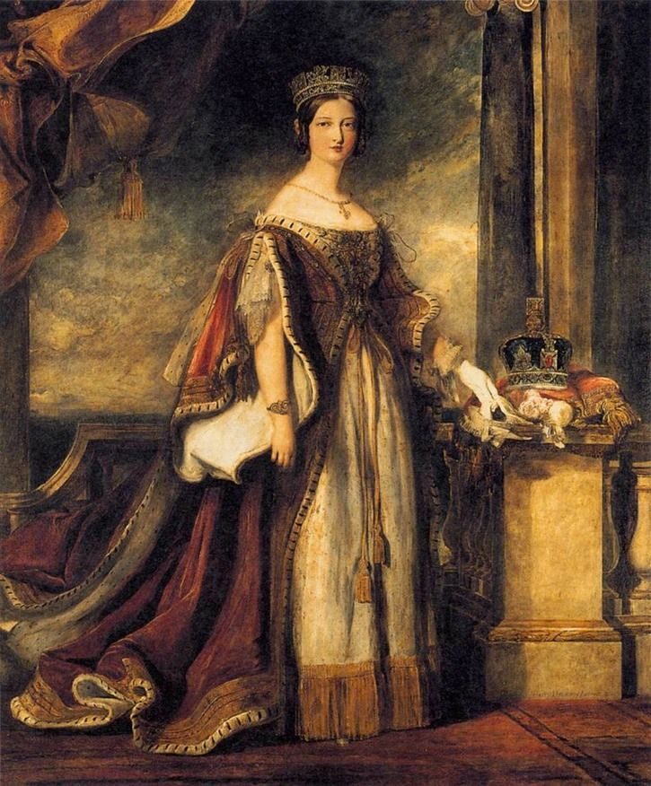 1840 Queen Victoria by Sir David Wilkie (private collection)   Grand Ladies   gogm
