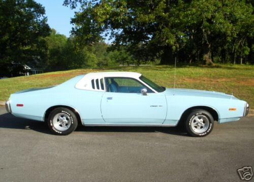 My First Car 1974 Dodge Charger Se Baby Blue Dark Blue