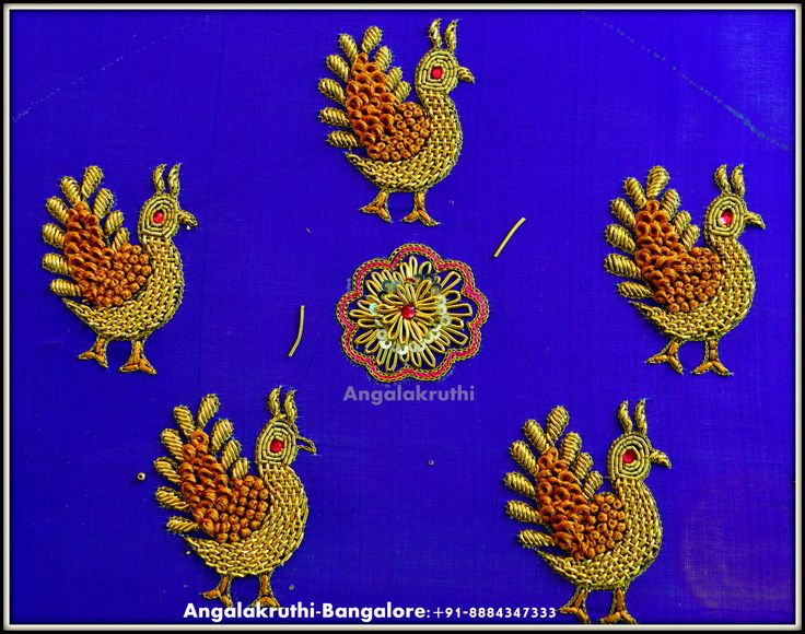 Hand Embroidery designs by Angalakruthi_Boutique_Bangalore
