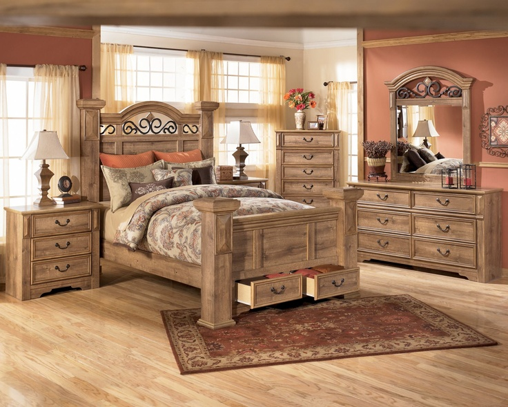 Ashley whimbrel forge king bedroom suite rustic and unique pinterest furniture beds and for Rustic bedroom furniture suites