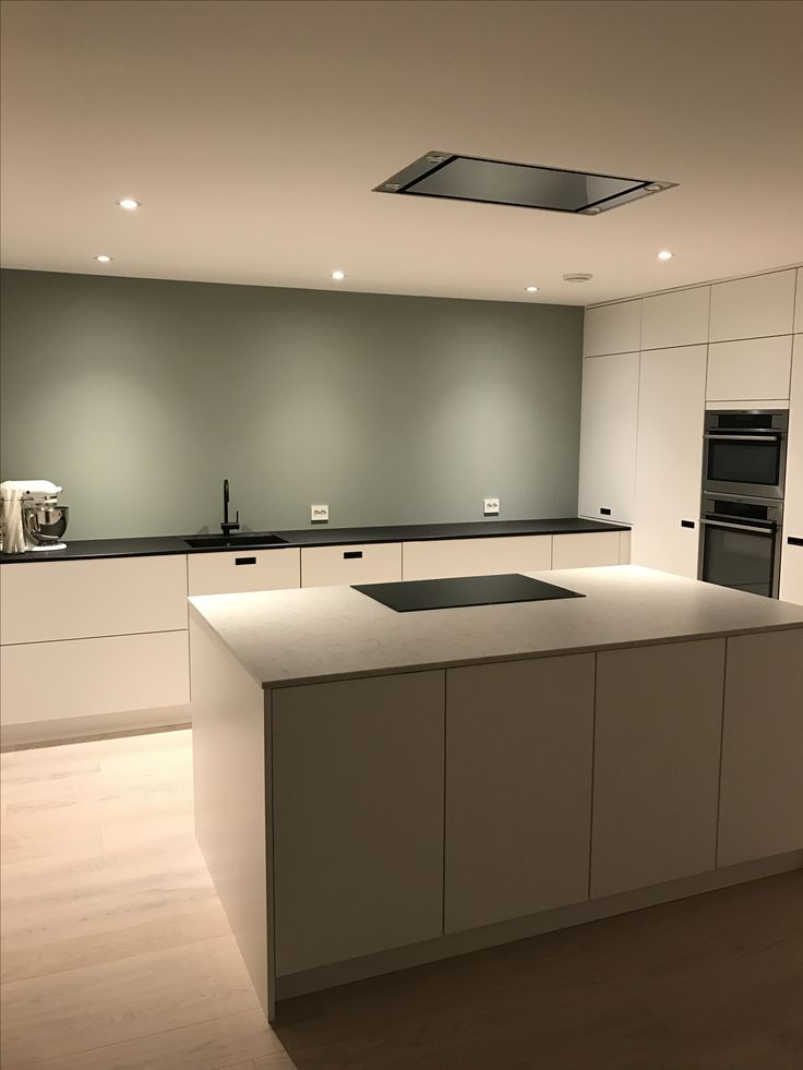 Kvik kjøkken mano minty breeze kjøkkenøy svart marmor silestone modern scandinavian kitchenaid