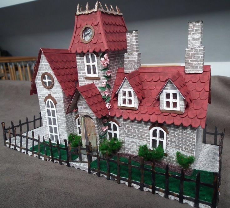 Tim holtz village Manor dwelling die cut kit house building precut  290g 5 • £2.00