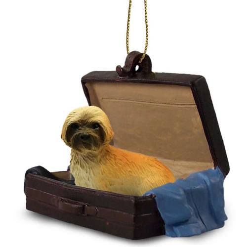 Lhasa Apso Brown Sport Cut Tag Along Carrycase Ornament