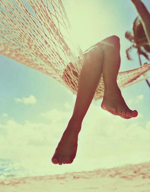 Improve circulation in your legs and lower the risk of unsightly veins by elevating your feet when resting.