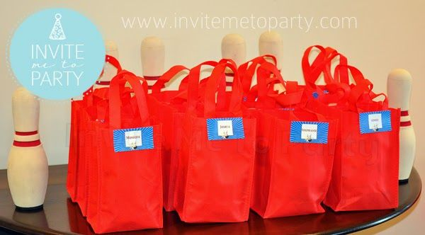 Bowling Party Snack Bags  Invite Me To Party: Ten Pin Bowling Party / Bowling Party