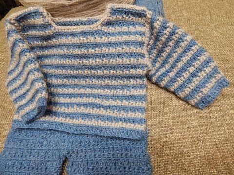 Sueter para Bebe Crochet parte 2 de 2 - YouTube