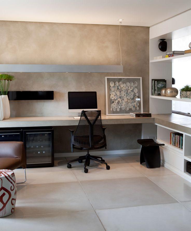 decoração clean e moderna do escritório