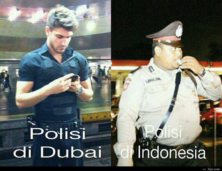 polisi indo vs dubai  ya allah subhanallah polisi dubainyaaaa
