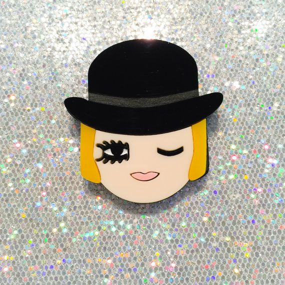 Baccurelli FW15 Costume Party - Clockwork Orange / Alex - layered acrylic brooch (Valley of The Dolls series)