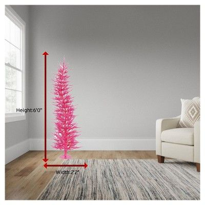6ft Pre-Lit Artificial Christmas Tree Pink Laser - with 150 Pink Led Lights
