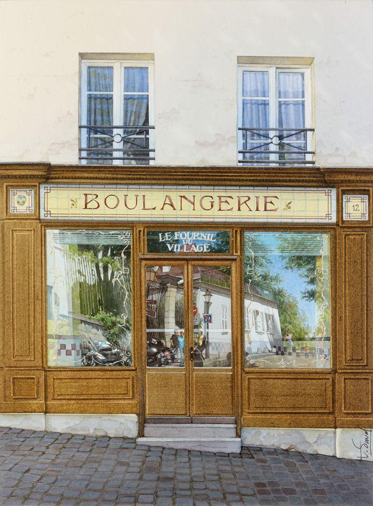 Les reflets de Montmartre sur la boulangerie - 2012-10-31 10:21:30 Format : 28,5 cm x 39 cm.
