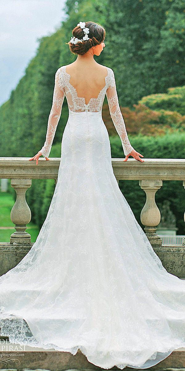 24 Chic Long Sleeved Wedding Dresses ❤ See more: http://www.weddingforward.com/long-sleeved-wedding-dresses/ #wedding #dresses