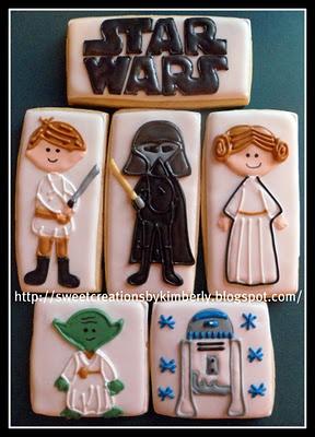Star Wars CookiesCookies Ideas, Cutout Cookies, Character Cookies, Cookies Design, Stars Wars Sweets, Star Wars, Cutest Stars, Stars Wars Cookies, Cookies Iii