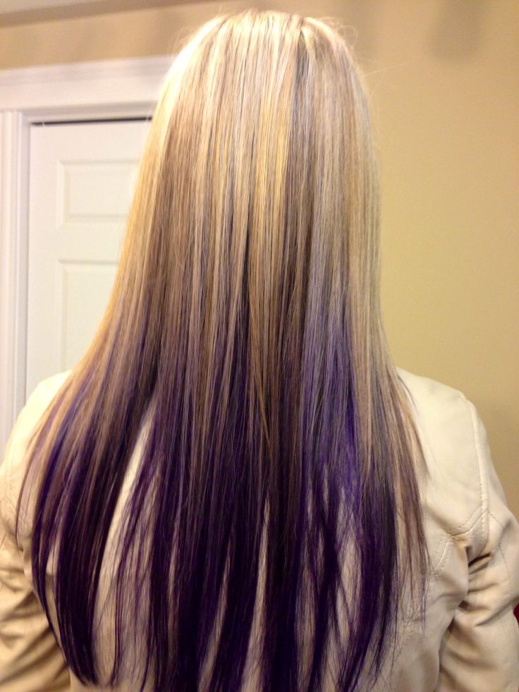 Blond Highlights With Purple Under Hair Purple Hair