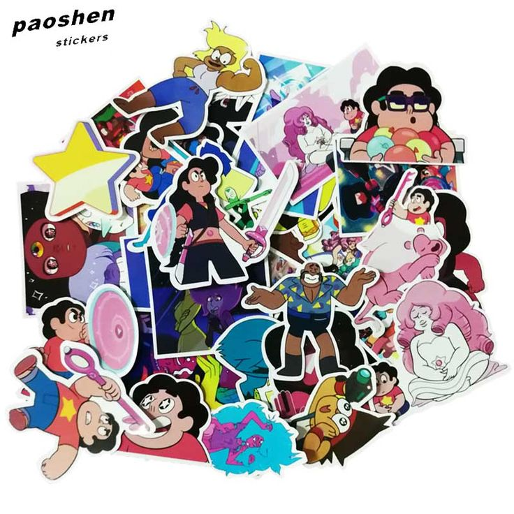 Promo Offer 32Pcs/bag Steven Universe Funny Sticker Decal For Car Laptop Bicycle Motorcycle Notebook Waterproof Stickers