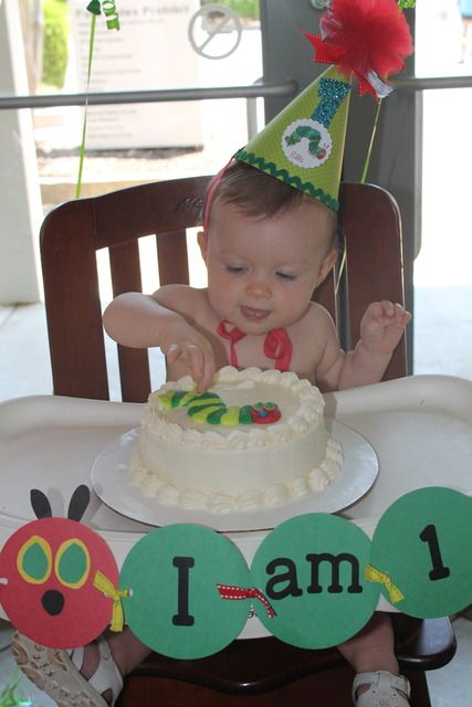 """Photo 1 of 43: The Very Hungry Caterpillar / Birthday """"Ella's first birthday""""   Catch My Party"""