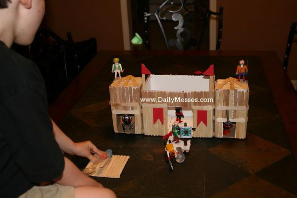 Homemade Fort and Castle - Homemade Popsicle Stick House Designs, http://hative.com/homemade-popsicle-stick-house-designs/,
