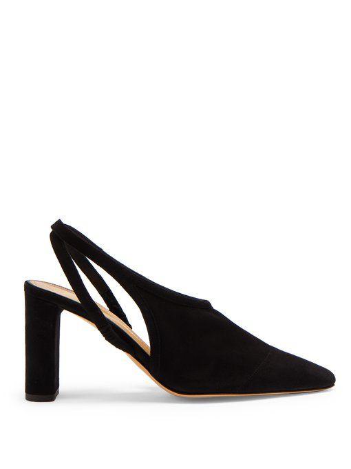 d14c3c90ee5 The Row Camil slingback suede block-heel pumps