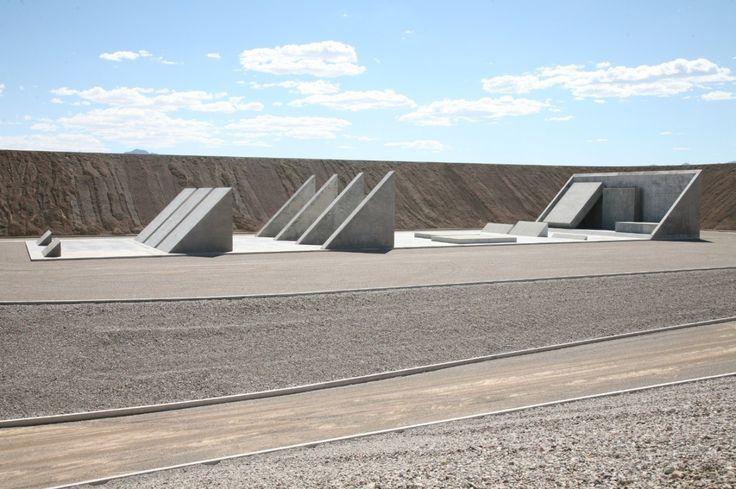 """Michael Heizer, A view of """"City,"""" artist Michael Heizer's monumental work of land art in the Nevada desert. There is a movement afoot to protect the land around the work. (Tom Vinetz / Triple Aught..."""