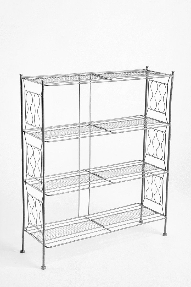 Brimfield Bookcase. Highly reviewed, lightweight, sturdy. Black, yellow, aqua, taupe, all distressed apparently.