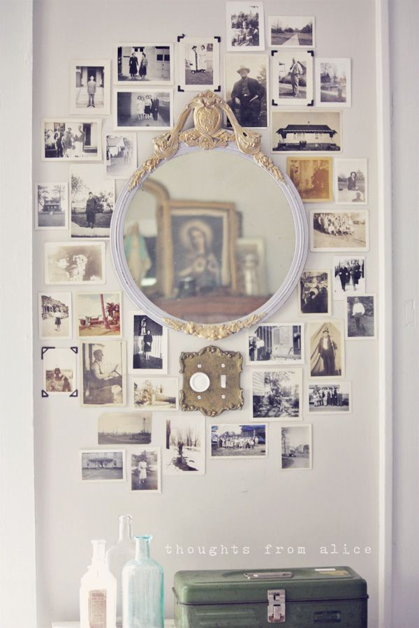 Vintage Photo Wall Collage Thoughts From Alice Photo